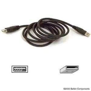 6ft usb ext black